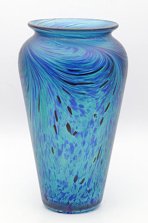 Large Art Nouveau glass vase