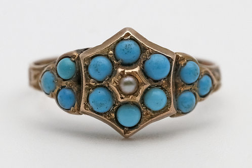 Late 19th century 9ct gold ring