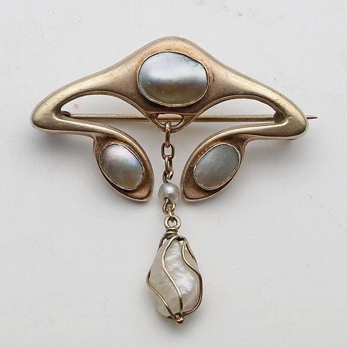 Jugendstil silver Brooch