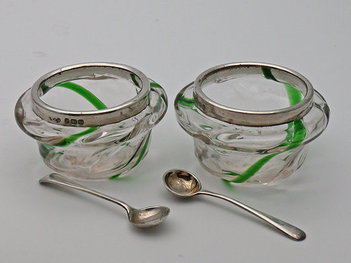 Pair of Art nouveau salts c. 1906