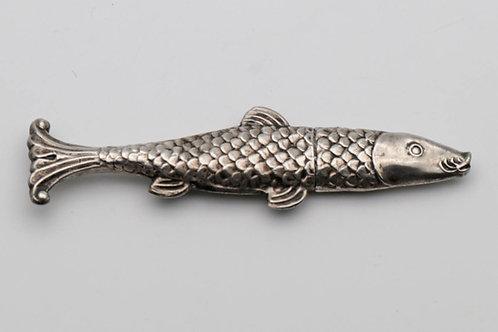 Rare German silver novelty needle case c.1850