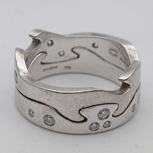 18ct white gold diamond 'Fusion' ring, Georg Jensen