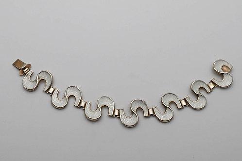 Norwegian silver gilt and enamel bracelet