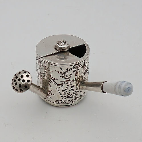19th Century Chinese silver novelty miniature pepper pot