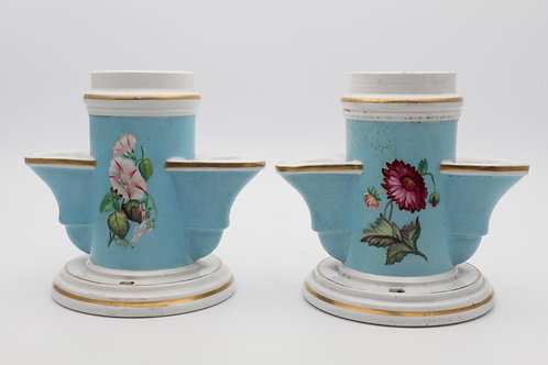 Pair of porcelain ink wells