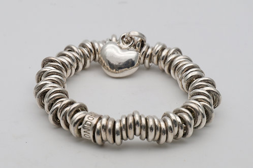 A Links silver heart bracelet