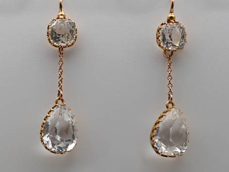 Antique jewellery with rock crystal