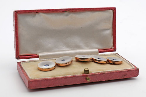 Set of Five Gold Buttons