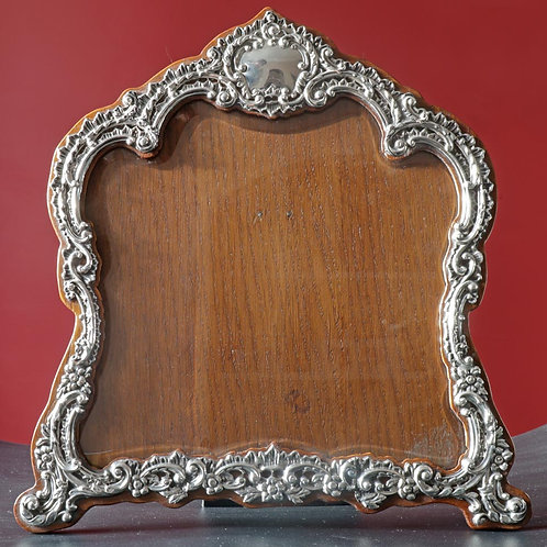Victorian silver large photograph frame