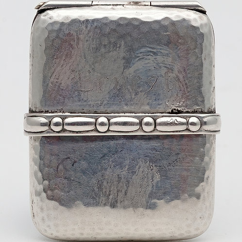 Small Danish silver match case