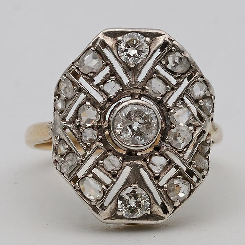 Art Deco gold & diamond ring