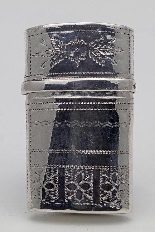 Georgian silver etui