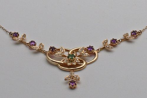 A gem set necklace c. 1900