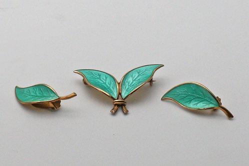David-Andersen Willy Winnaess earrings and brooch