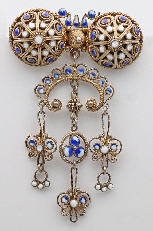 Marius Hammer Norwegian Solje silver filigree brooch