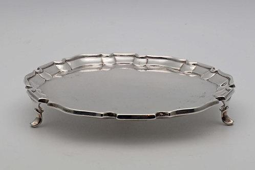 Small Victorian silver salver