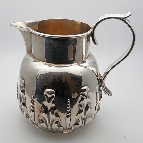 Victorian silver water jug