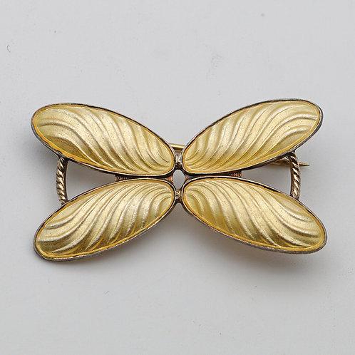 Yellow Arne Nordlie silver brooch