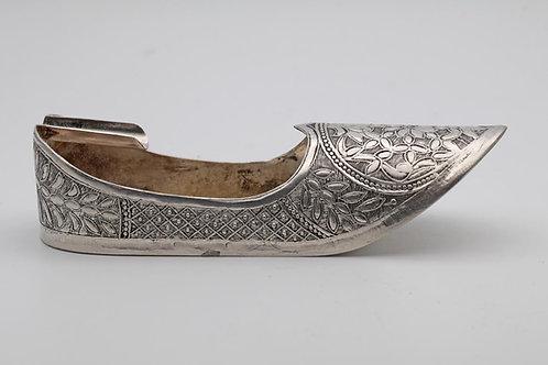 Antique Indian silver shoe