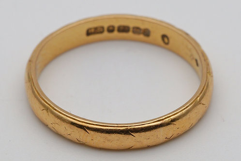 Antique 22ct gold band ring