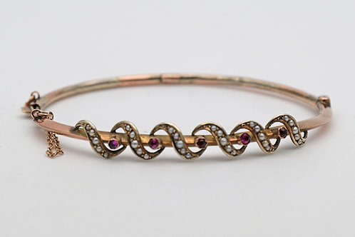 Victorian or Edwardian gold bangle