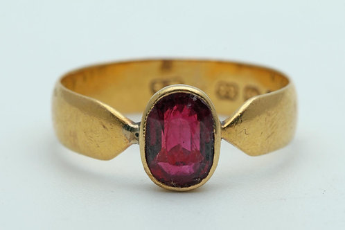 Victorian 22ct gold and ruby ring