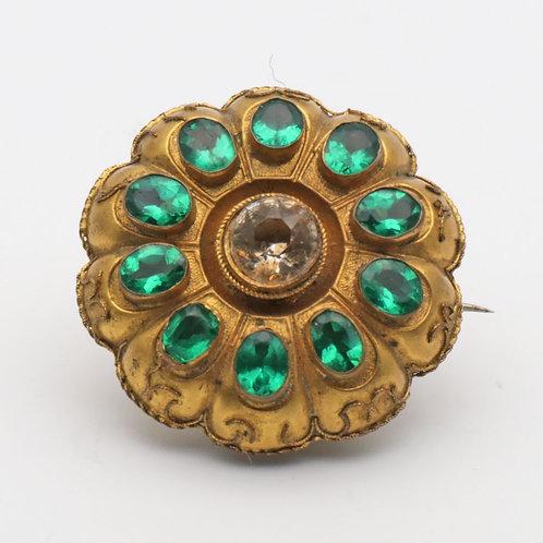 Victorian costume jewellery brooch