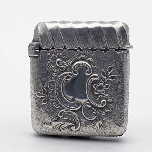 Art Nouveau silver vesta