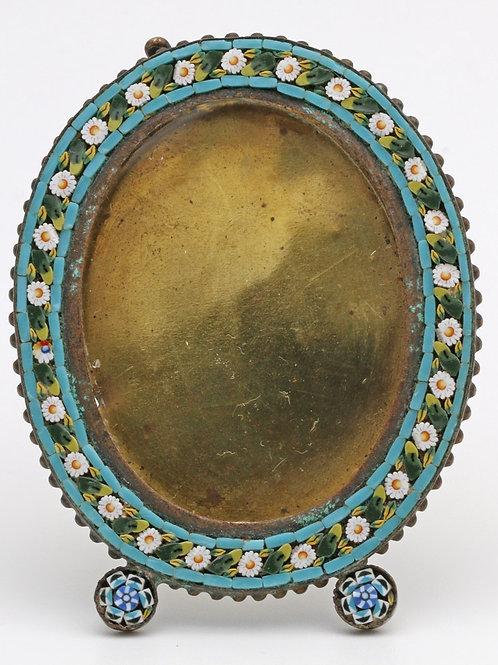 Italian miniature micro-mosaic frame