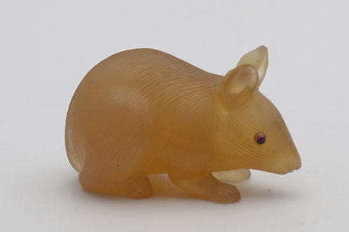 Early 20th century Russian chalcedony mouse
