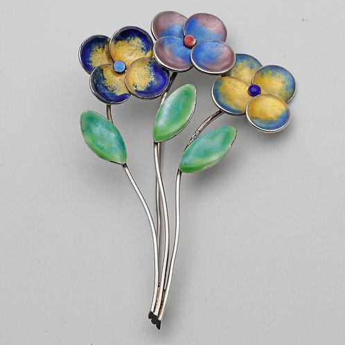 Bernard Instone flower brooch