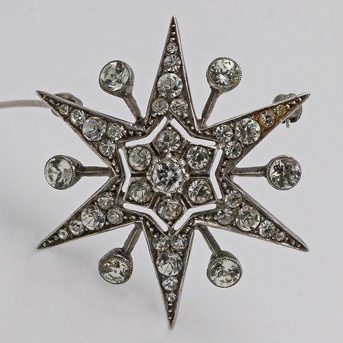 Ciro 1930s silver star brooch