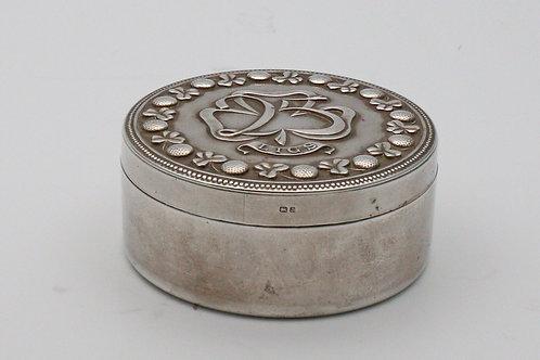 Silver box Leeds and Irish Golf Society