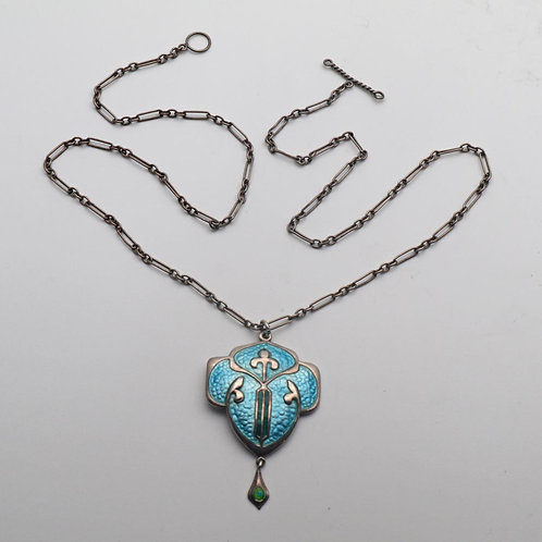 Arts and Crafts enamel pendant