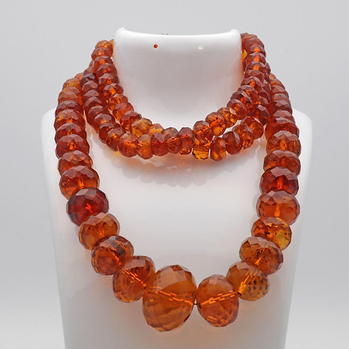 Antique amber bead necklace