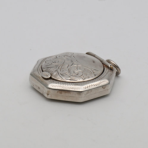 Octagonal silver compact