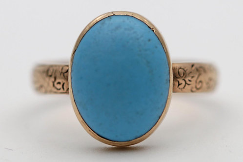 Antique 18ct gold turquoise ring