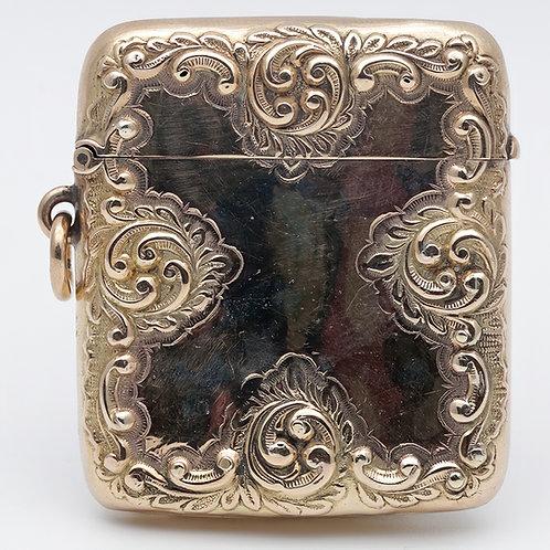Victorian Henry Matthews gold vesta case