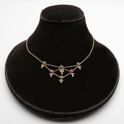 Elegant Edwardian gold necklace