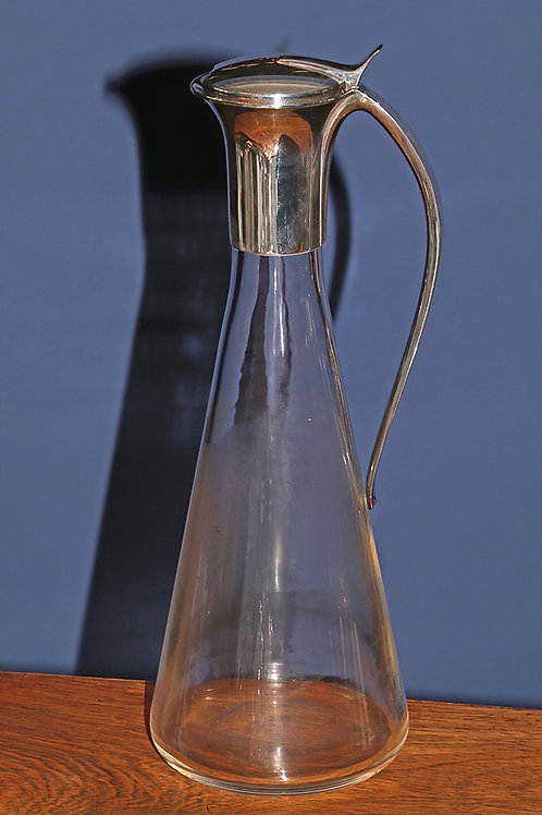Contemporary silver topped claret jug by Martyn Pugh