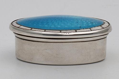 Art Deco Edwardian silver and enamel box