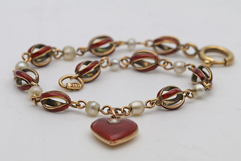 Edwardian gold and enamel bracelet