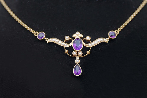Edwardian gold necklace