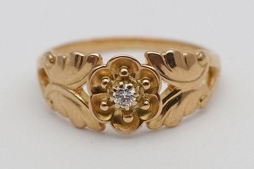 Georg Jensen 18ct gold and diamond ring