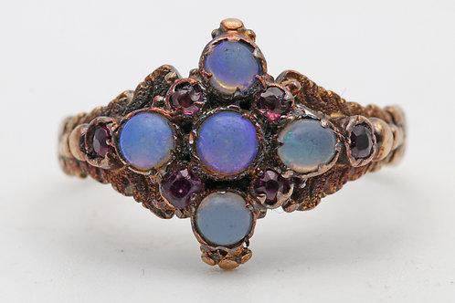 Victorian gold gem set ring