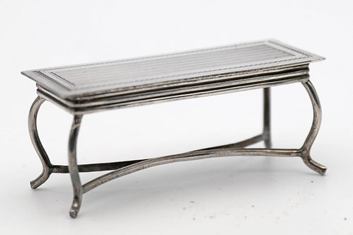 Miniature silver coffee table