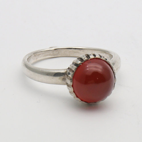 Carnelian ring set in silver