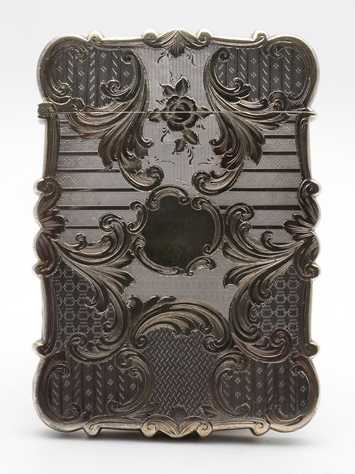 Early Victorian card case by Nathaniel Mills