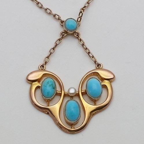 Art Nouveau pendant, Barnet Henry Joseph