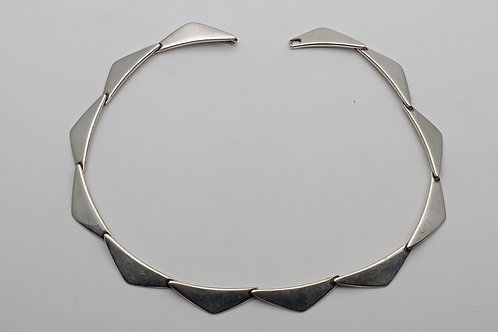 Danish 'Peak' silver necklace Hans Hansen